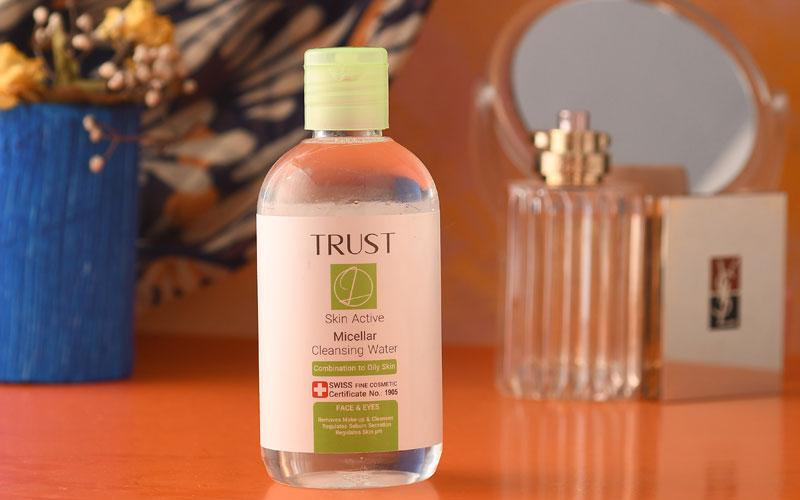 محلول میسلار پاککننده آرایش (پوست مختلط تا چرب) تراست